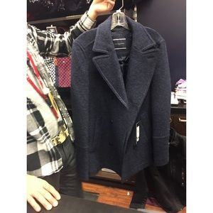 NWT Authentic Tommy Hilfiger Men's Wool Pea Coat